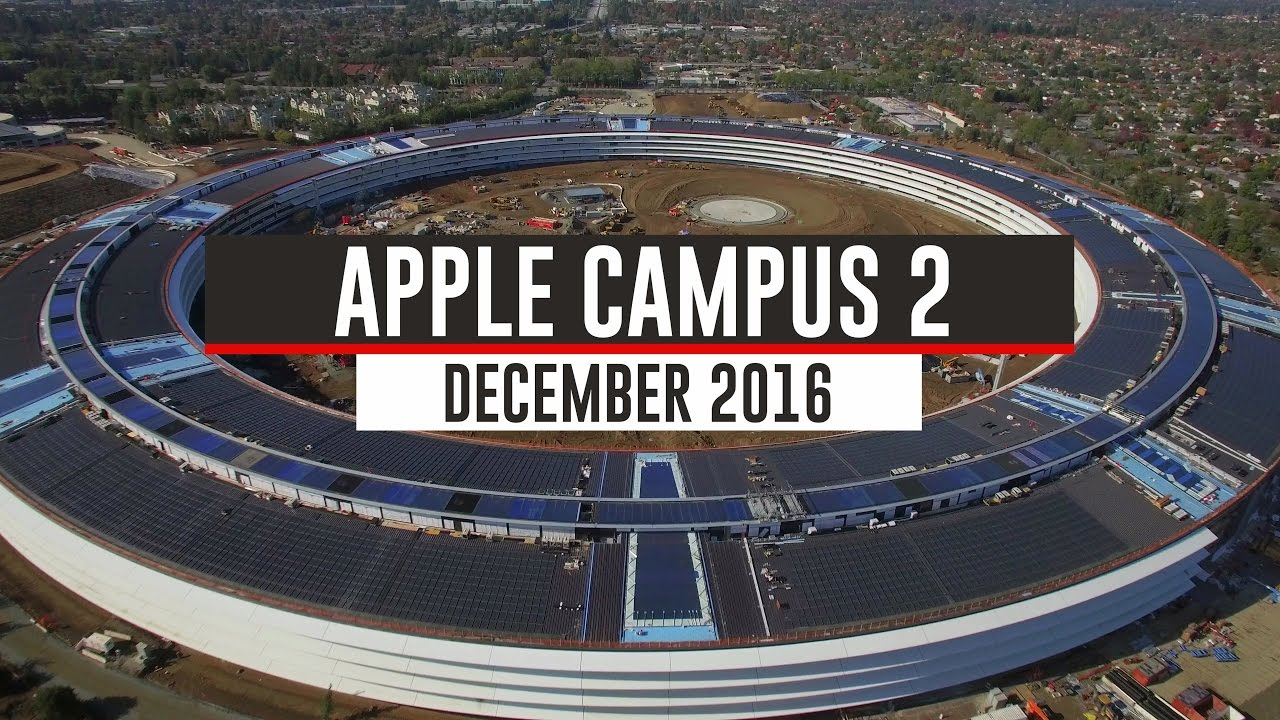 Apple Campus 2 Drone Footage Shows Campus Looking Near Complete